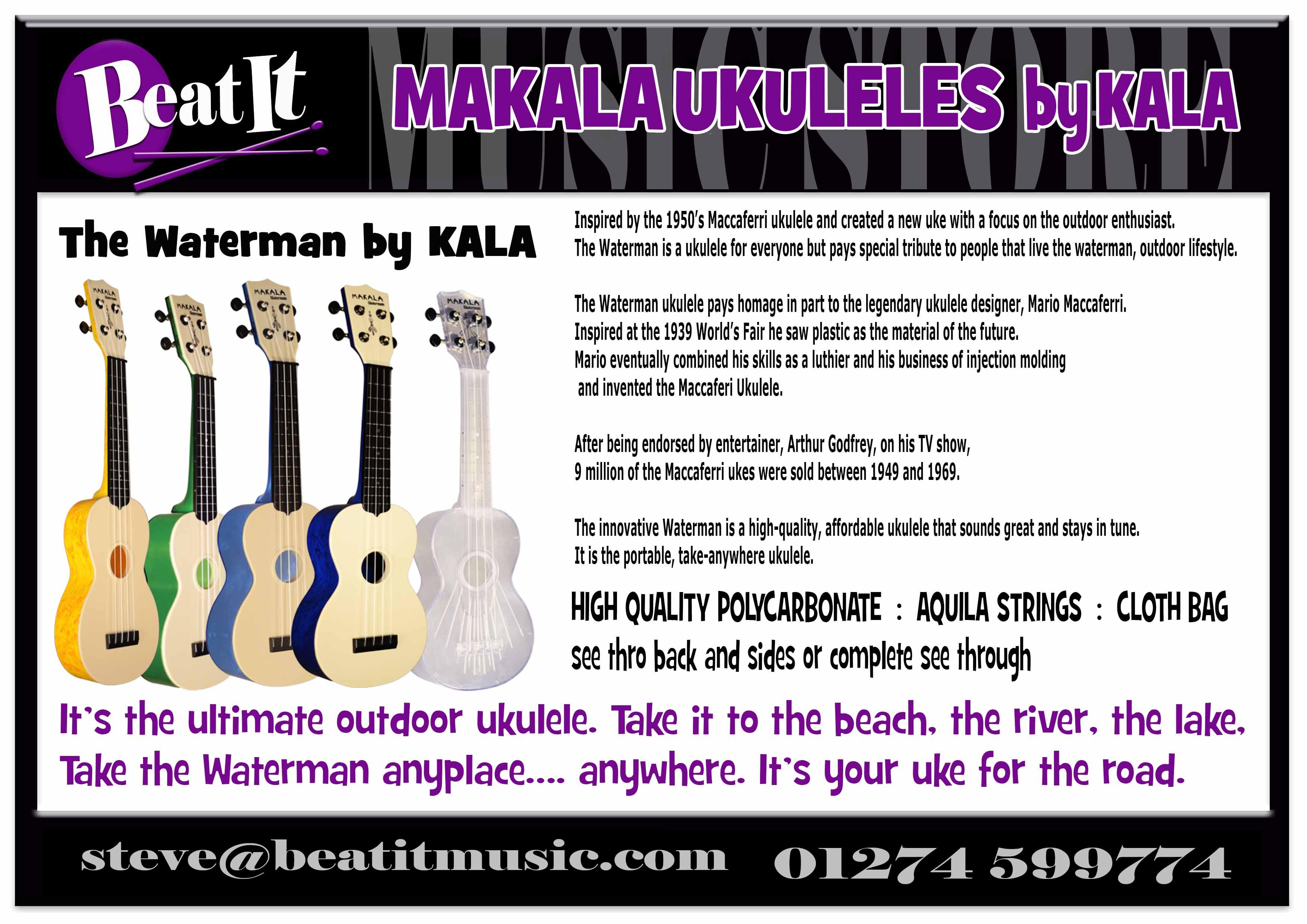 Beat it music makala ukuleles by kala hexwebz Image collections